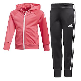 Adidas Little Girls Knitted Tracksuit