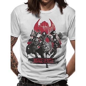 Justice League Unisex Adults Fight Design T-shirt
