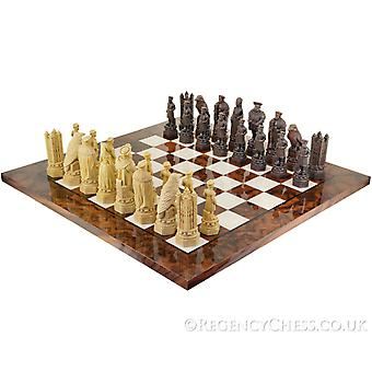 The White Tower Italian Briar Chess Set