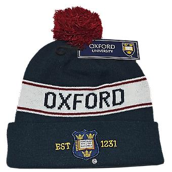 Oub102 licensed unisex oxford university™ pom pom ski hat navy