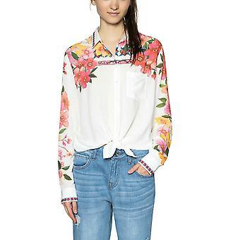 Desigual Women's  Laurene Vibrant Floral Shirt