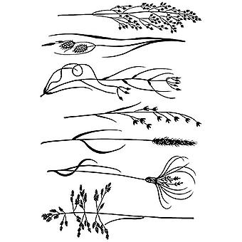 Woodware A5 Clear Stamp Set - Rushes & Grasses
