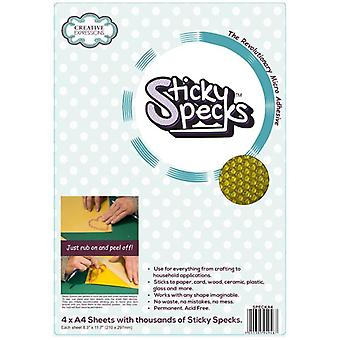 Creative Expressions Sticky Specks A4 Micro Adhesive Sheets | 4 Sheets