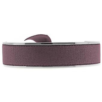 Les verwisselbare armband A47608-Jonc Ruban verwisselbare 12mm Bordeaux vrouwen