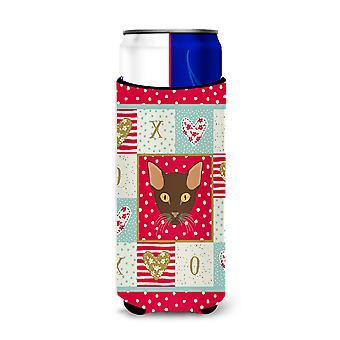 Carolines Treasures  CK5171MUK Suphalak Cat Michelob Ultra Hugger for slim cans