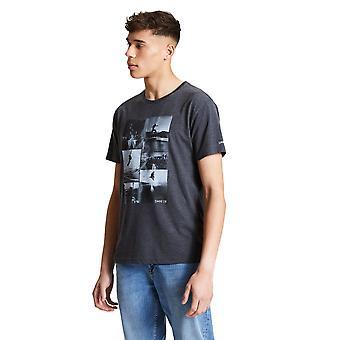 Vågar 2b Mens Token Bomull Casual Grafisk T Shirt Tee