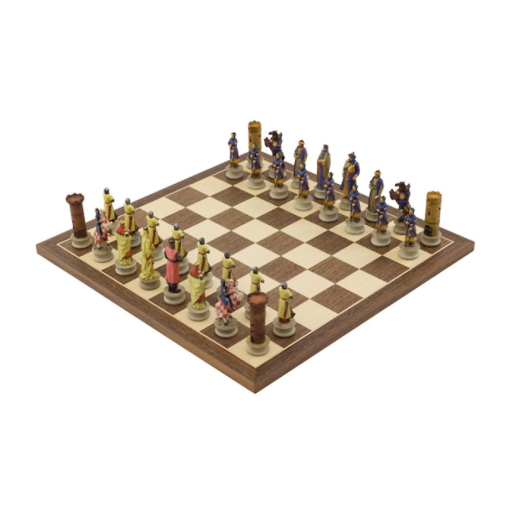 The Crusaders Vs Arabs Hand painted themed Chess set by Italfama