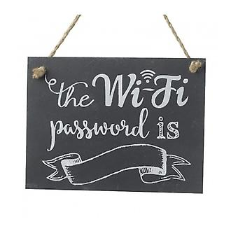 Heaven Sends Slate Wifi Password Plaque