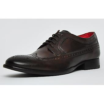 Basis London Bailey Leather Brown