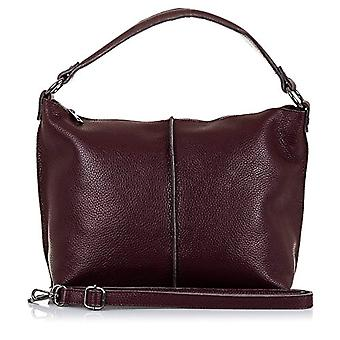 FIRENZE ARTEGIANI. Women's bag in real leather. Leather bag genuino_piel DOLLARO_tacto soft. MADE IN ITALY. REAL ITALIAN SKIN. 38 x 26 x 14 cm. Color: Burgundy