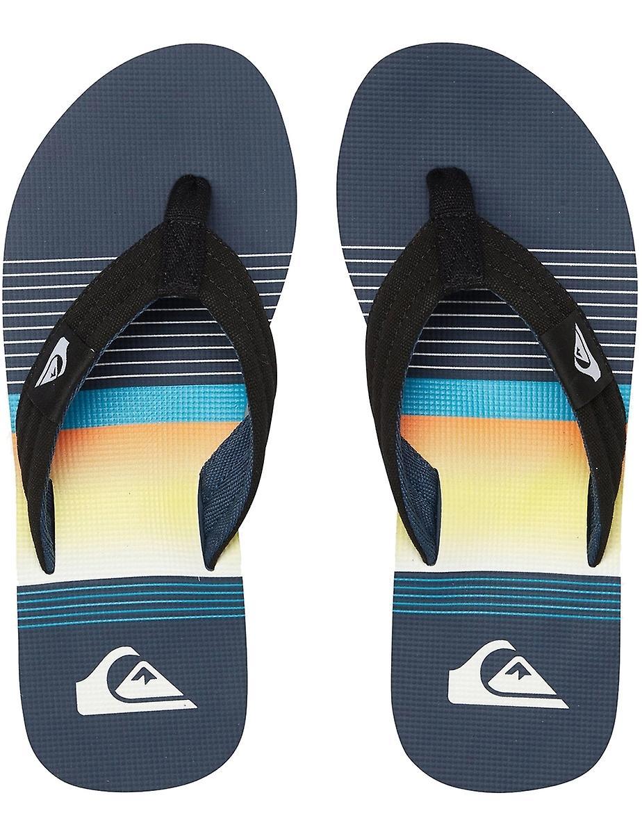 Quiksilver Molokai Layback Teenslippers in zwart/blauw/zwart nQx5lO