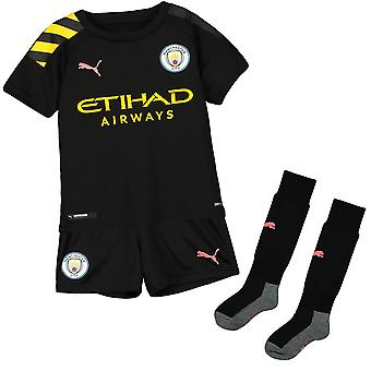 Puma Manchester City 2019/20 Junior Kids Away Football Kit Noir