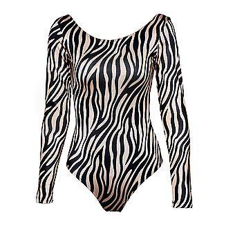 Paramidonna Zbs0106 Dames's Brons/zwart Nylon Bodysuit