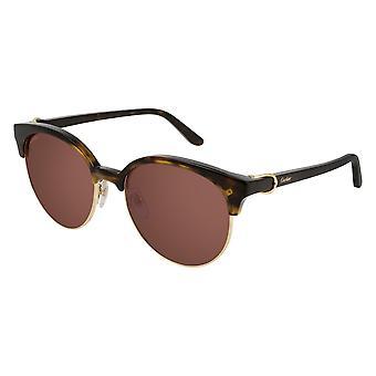 Cartier C Décor CT0126S 003 Havana/Red Mirror Sunglasses