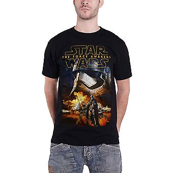 Star Wars Force Awakens Phasma And Troopers Official Mens Black T Shirt