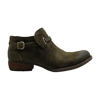 B.O.C Womens Sylvia Leather Almond Toe Ankle Fashion Boots