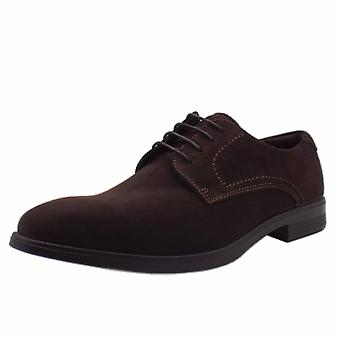 ECCO 621634 Melbourne Coffee - Men's Lace-up Suede Formal Shoes In Coffee