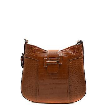 Tod's Ezbc025099 Women's Brown Leather Shoulder Bag