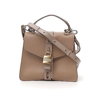 Chloé Chc19as188b5723w Women's Grey Leather Handbag