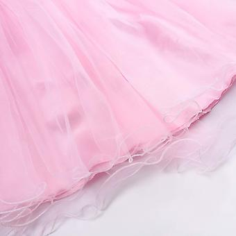 JerrisApparel Little Girls' Sequin Mesh Flower Ball Gown Party Dress Tulle Pr...