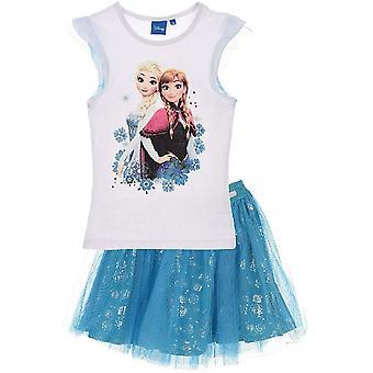 Filles ER1164 Disney Frozen Short Sleeve T-Shirt et Tutu Jupe