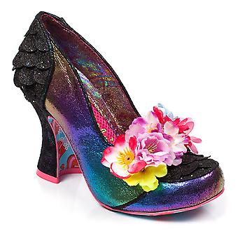 Womens Irregular Choice Desire Rainbow Metallic Mid Heel Court Shoes