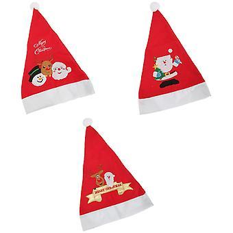 クリスマス サンタ/スノーマン/トナカイ帽子とポンポン