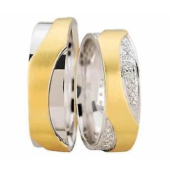 Wedding rings bicolor fantasy model