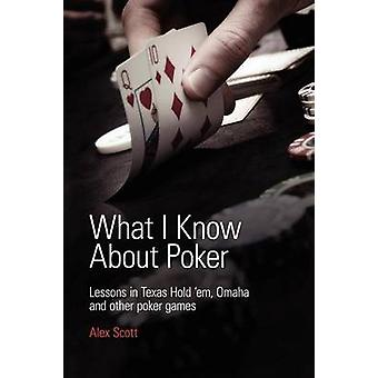 What I Know About Poker Lessons in Texas Holdem Omaha and Other Poker Games by Scott & Alex