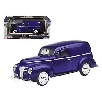 1940 Ford Sedan Delivery Purple 1/24 Diecast Car Model par Motormax