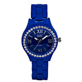 Eton Fashion Watch, Diamante Bezel, Blue Rubber Touch Finish 3166L-BL