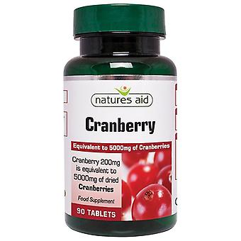 Natuur ' s Aid Cranberry 200mg tabletten 90 (18420)