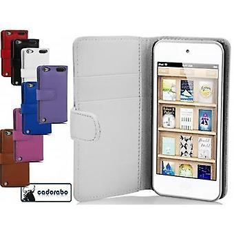 Funda Cadorabo para Apple iPod TOUCH 5 Funda de la funda - Funda lisa del teléfono de cuero sintético con la función del soporte y la caja de la tarjeta - funda de la funda de la caja de la caja del caso del libro plegable del libro plegable