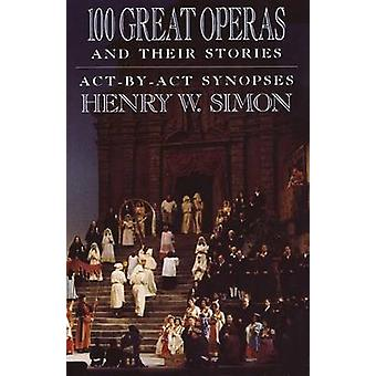 100 Great Operas And Their Stories by Henry W Simon