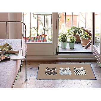 Salonloewe Doormat Buddy Cats taupe 50 x 75 cm tapis de terre lavable