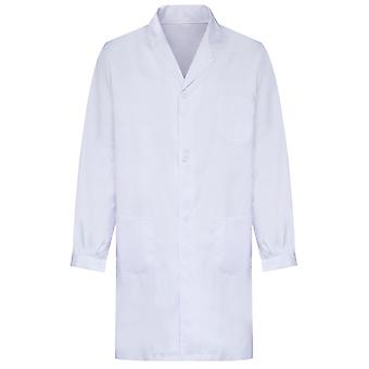 Allthemen Men & Apos;s Medical White Coat Mâneci lungi Medical Sănătate Salopete