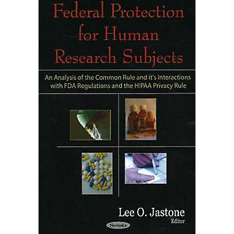 Federal Protection for Human Research Subjects - An Analysis of the Co