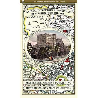 A Collection of Four Historic Maps of Norfolk from 1611 - 1836 by Map