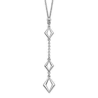 10mm 925 Sterling Silber Rhodium vergoldet Adj. Mit 1,5 Zoll Ext. Halskette 15,5 Zoll Schmuck Geschenke für Frauen