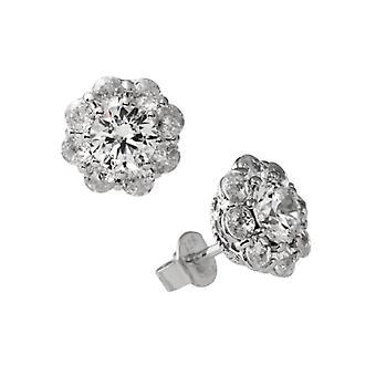 Diamonfire-hopea PIN korva korut hopea 925 ja Strassirondelli-väri: valkoinen morsian linja 1381/62/1/082 naisille
