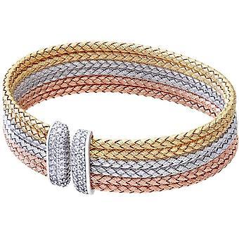 Women's Bracelet - Gold Plated - Silver 925/1000 - Zirconium Oxide