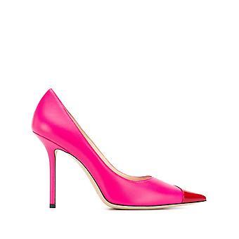 Jimmy Choo Ezcr028009 Women's Pink Leather Pumps