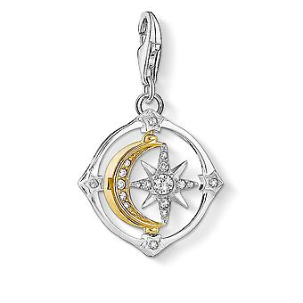 Thomas Sabo Multicoloured Compass Moon & Star Charm