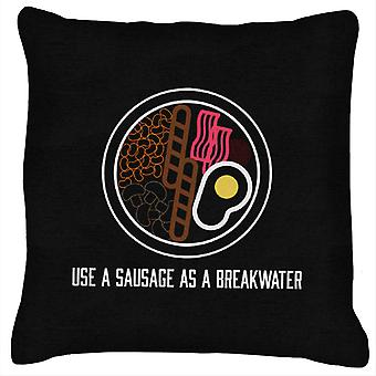 Alan Partridge Use A Sausage As A Breakwater Cushion
