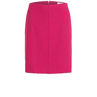 Oui Pink Boiled Wool Skirt