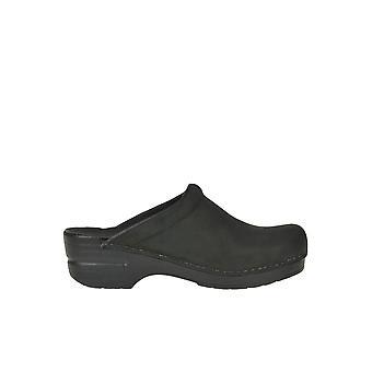 Dansko Ezgl296022 Women-apos;s Black Leather Slippers