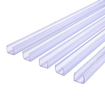 """DELight 10Pcs 39 3/8"""" x 9/16"""" x 9/16"""" Clear PVC Channel Mounting Holder Acc for 9/16"""" LED Neon Flex Strip Light 32' Total Length"""
