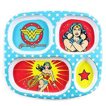 Wonder Woman Melamine Divided Plate