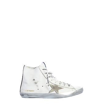 Goldene Gans G36ms591c53 Männer's weißes Leder Hi Top Sneakers