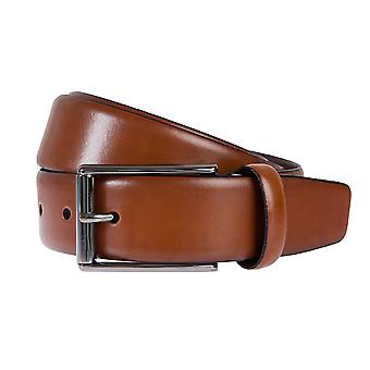 Strellson belts men's belts leather leather belt Cognac 2035